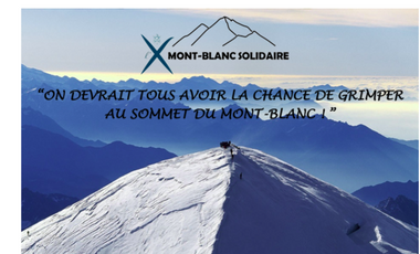 Project visual Défi Mont-Blanc Solidaire