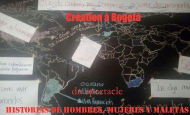 Visueel van project Création à Bogotá du spectacle : Historias de hombres, mujeres y maletas