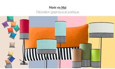 Visuel du projet Marie en Mai décoration graphique et poétique qui AIME la couleur