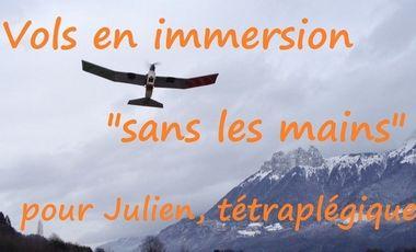 """Visueel van project Vols en immersion """"sans les mains"""" pour Julien, tétraplégique"""