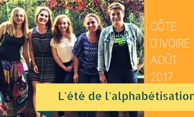 Project visual L'été de l'Alphabétisation en Côte d'Ivoire