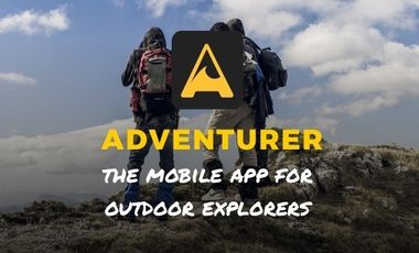 Project visual Adventurer - Mobile app for outdoor explorers