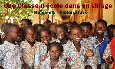 Project visual 1 classe d'école dans un village - Humanity - Burkina Faso