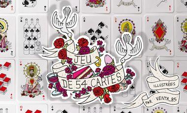 Project visual Jeu de 54 cartes Illustrées par Venta_85