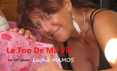 """Visuel du projet Lucia MAMOS 1er CD album """"LE TON DE MA VIE"""""""