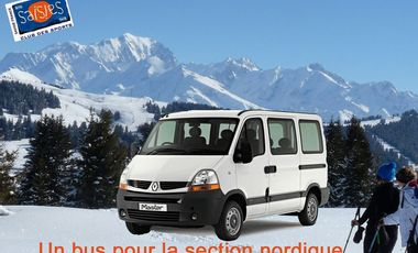 Project visual A brand new van for the nordic ski section of the Club des Saisies