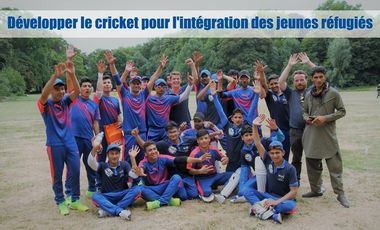 Project visual Développer le cricket pour l'intégration des jeunes réfugiés