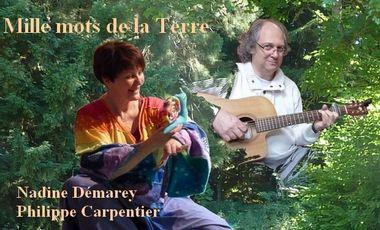 """Visuel du projet Cd audio """"Mille mots de la Terre"""" (contes et musique)"""
