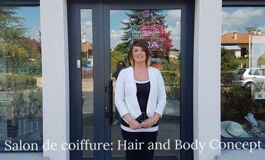 """Project visual Reprise du salon de coiffure """"Hair & Body Concept"""" Pontonx sur Adour"""