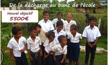 Project visual De la décharge au banc de l'école