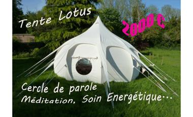 Visueel van project Tente Lotus. Lieu énergétique et de bien être