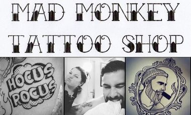 Project visual Mad Monkey Tattoo Shop