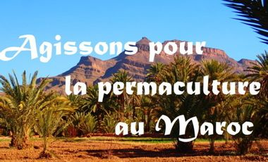 Visueel van project Agir pour la permaculture au Maroc
