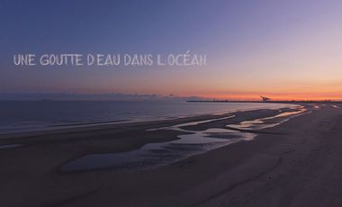 Project visual Une goutte d'eau dans l'océan