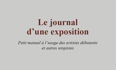 Visuel du projet Le Journal d'une expo, le livre