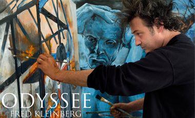 """Visueel van project """"Odyssée"""" une exposition itinérante de Fred Kleinberg sur les refugiés."""