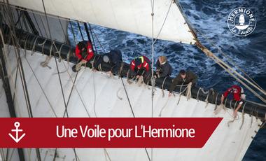 Project visual Une Voile pour L'Hermione