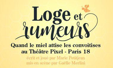 Visuel du projet Loge et rumeurs : miel et convoitises au Théâtre Pixel