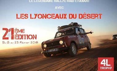 Visueel van project 4L Trophy - Les Lyonceaux du désert