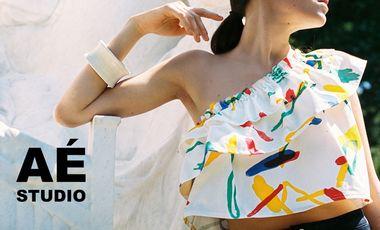Project visual Lancement AÉ Studio, vêtements par Emilie Doré et Agoston Palinko