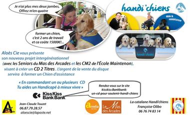 Project visual Un CD  pour soutenir Handi'chiens