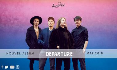 Visueel van project LUNAXY - «Departure» : 1er Album