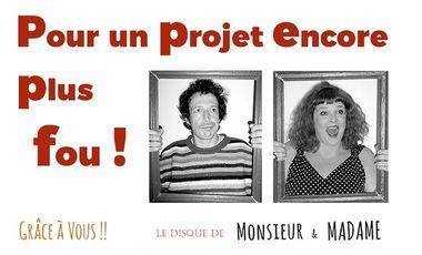 Visueel van project Monsieur & Madame font un disque !!