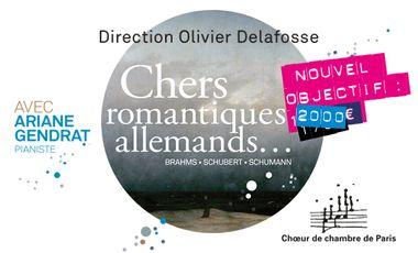 Visuel du projet Chers romantiques allemands - le CD