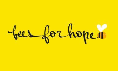 Visueel van project Beesforhope ,du miel qui fait du bien