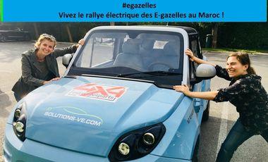 Project visual Vivez le rallye électrique des E-Gazelles au Maroc