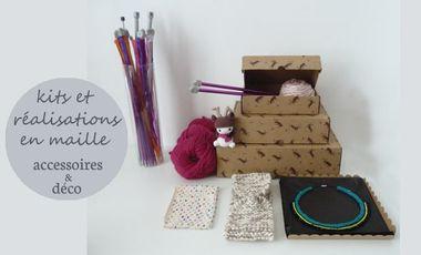 Visueel van project Bleu Polaire - déco et accessoires de mode en maille : kits & réalisations