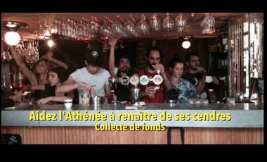 Project visual Aidons le café l'Athénée à renaître de ses cendres