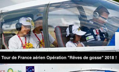 """Project visual Aidez nous à financer le Tour de France aérien Opération """"Rêves de gosse"""" 2018!"""