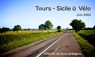Visuel du projet Go Away and Treadle : Tours - Sicile à vélo