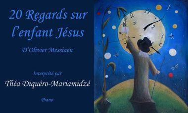 Visueel van project Double CD de Messiaen interprété par Théa Diquéro-Mariamidze