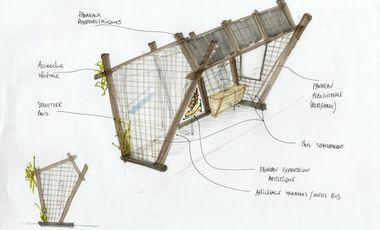 Visueel van project SUREST'Arts, l'abri de bus écologique, culturel et technologique